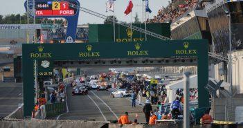Les stands du circuit de la Sarthe lors de la 2e séance de qualifications des 24 Heures du Mans 2017