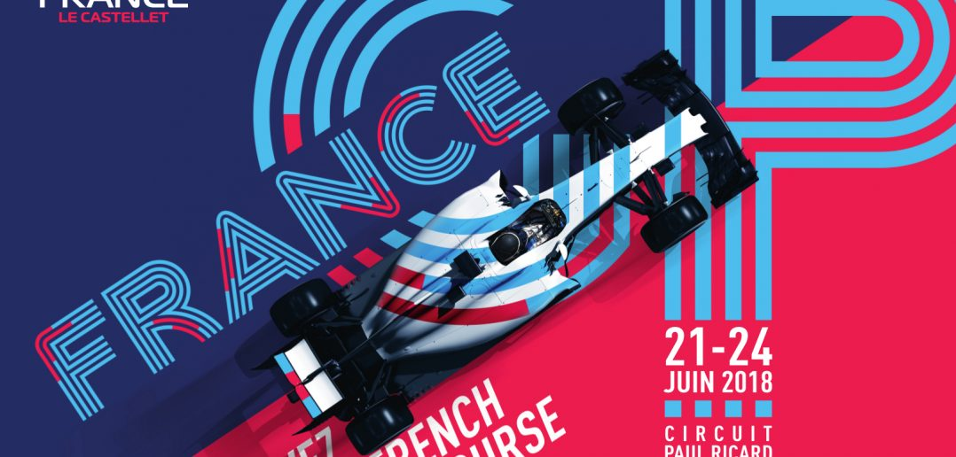 L'affiche officielle du GP de France de Formule 1 2018