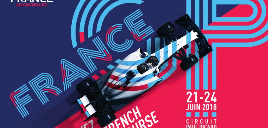 L'affiche officielle du GP de France de Formule 1 2018