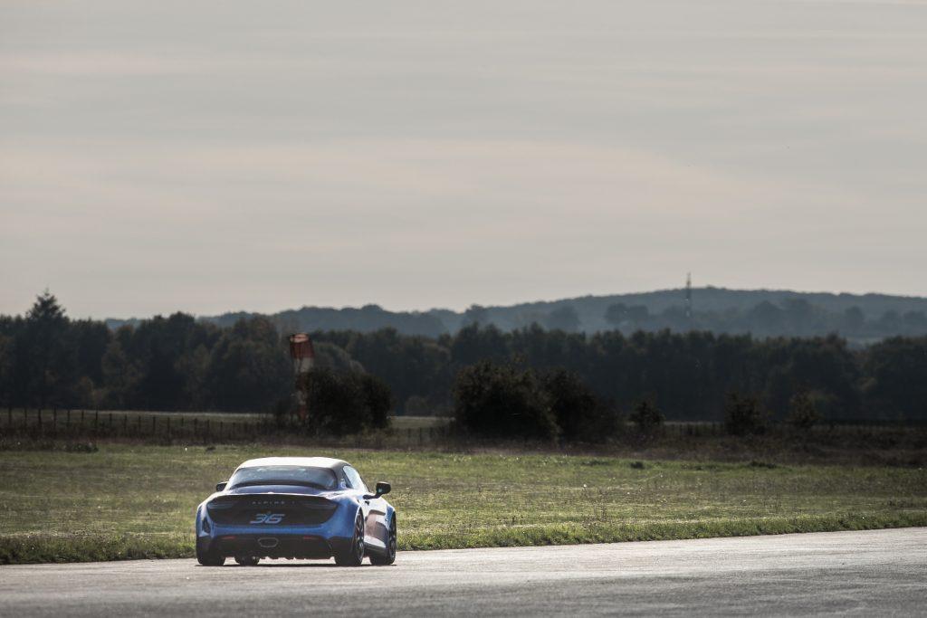 Essais circuit de l'Alpine A110 Cup
