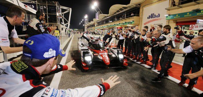 La Toyota TS050 Hybrid n°8 du Toyota Gazoo Racing victorieuse des 6 H de Bahreïn