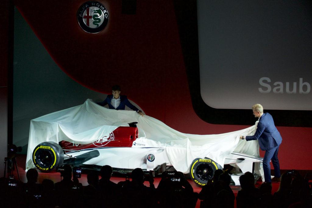 Charles Leclerc et Marcus Ericsson lèvent le voile sur les couleurs de la future Sauber 2018