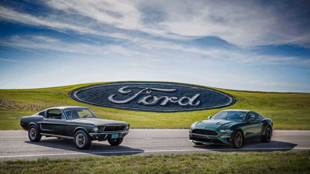 Ford Mustang Bullitt en versions 1968 et 2018