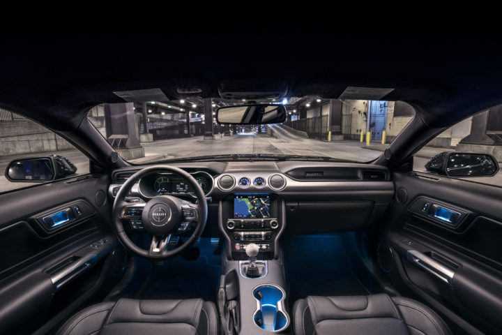 Intérieur de la Ford Mustang Bullitt 2019