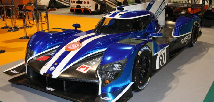 Vue de trois-quart du prototype LMP1 Ginetta G60-LT-P1