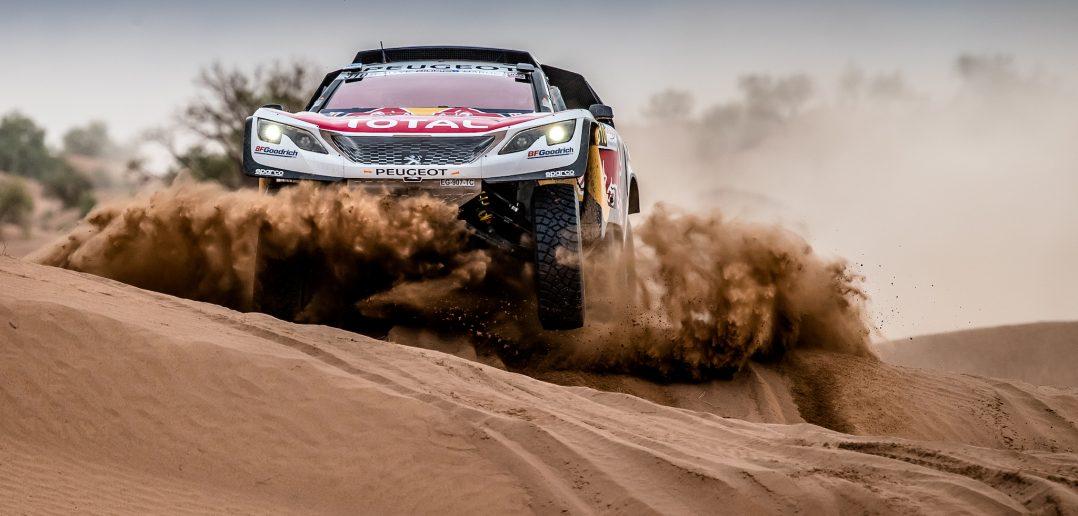 Le Peugeot 3008DKR Maxi au Rallye du Maroc 2017