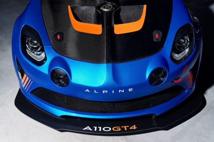 Alpine A110 GT4 capot avant