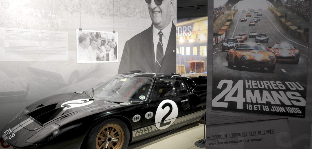 Affiche 24 Heures du Mans et Ford GT40 Mk2 victorieuse 1966